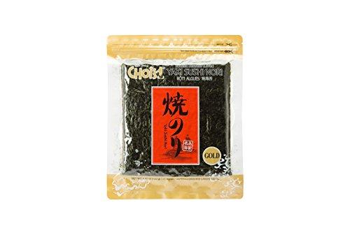 Choi's1 sushi nori, arrosto, richiudibile, oro grade laver (50 fogli interi)