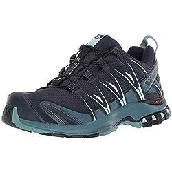 Salomon XA Pro 3D GTX, Calzado de Trail Running, Impermeable para Mujer, Azul (Navy Blazer/Mallard Blue/Trellis), 40 EU