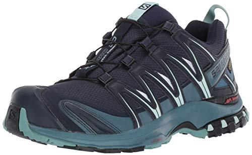 Salomon Damen XA Pro 3D GTX, Trailrunning-Schuhe, Wasserdicht, Blau (Navy Blazer/Mallard Blue/Trellis), Größe 40 2/3 Gore-tex ® - Systeme