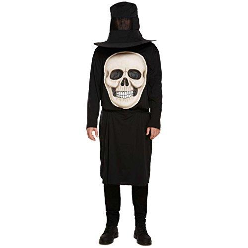 Spassprofi Kostüm riesiger Totenkopf Gr. 48/52 Horrorkostüm Kopflos Halloween Gruselkostüm