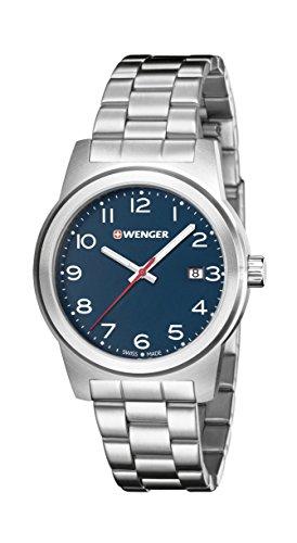 WENGER - 01.0441.153 - Montre Homme - Quartz - Analogique - Bracelet Acier inoxydable Argent