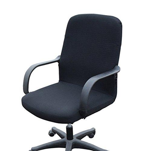 Funda MiLong para silla de oficina. Funda el�stica y extra�ble, elastano, negro,...