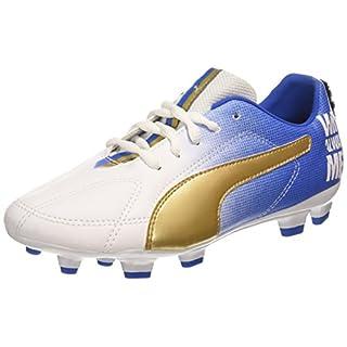 Puma Unisex-Kinder MB 9 FG Jr Fußballschuhe, Weiß (White Gold-Team Power Blue 01), 38 EU