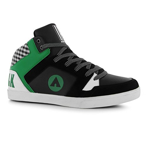 airwalk-roxbury-mid-top-skate-zapatos-para-hombre-negro-verde-casual-zapatillas-zapatillas-negro-ver