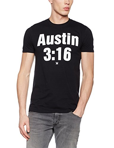 WWE Austin 3:16-Mens T-Black-Lrg, Maglietta Uomo, Black, Large