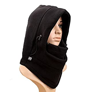 Arpoador Outdoor Sport Kappen Haarverdichtung Kapuze Winddicht Warm Maske Schal 1 Schwarz