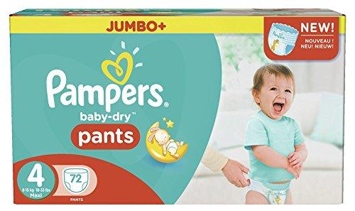 Preisvergleich Produktbild Pampers Baby Dry Pants Größe 4 Maxi 8-15kg Jumbo Plus Pack 72 Windeln