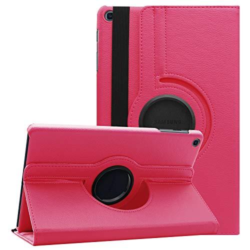 XTstore Hülle Kompatibel für Samsung Galaxy Tab A 10.1 SM-T510/T515 2019, Ultra Dünn PU Leder 360 Rotating Schutzhülle Etui Tasche mit Standfunktion für Samsung Galaxy Tab A 10.1