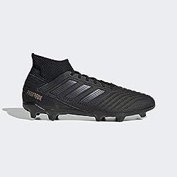 adidas Predator 19.3 Fg, Scarpe da Calcio Uomo, Nero (Core Black/Core Black/Gold Met. Core Black/Core Black/Gold Met.), 43 1/3 EU