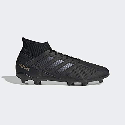adidas Herren Predator 19.3 FG Fußballschuhe, Schwarz (Core Black/Core Black/Gold Met. Core Black/Core Black/Gold Met.), 41 1/3 EU