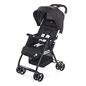 Chicco Oh La La Lightweight Stroller, Black GSDZSY ❀ MATERIAL : High carbon steel + ABS + rubber wheel, suitable for children from 1 month to 6 years old, maximum load 30 kg ❀ FEATURES : The push rod can be adjusted in height, the seat can be rotated 360, the backrest can be adjusted, the baby can sit or recline; the adjustable umbrella can be used for different weather conditions ❀ PERFORMANCE : high carbon steel frame, strong and strong bearing capacity; non-inflatable rubber wheel, suitable for all kinds of road conditions, good shock absorption, seat with breathable fabric, baby ride more comfortable 10