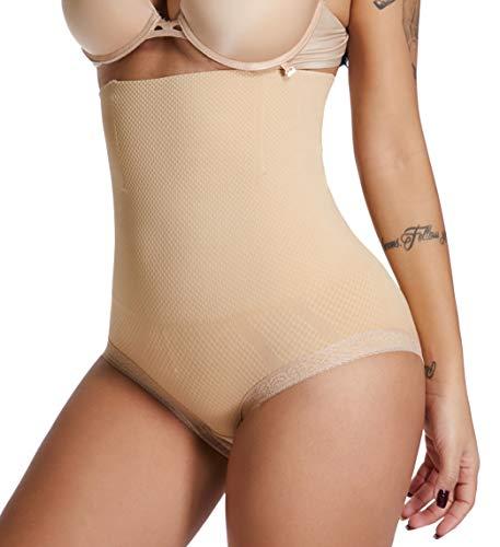 dbe16455cd1 SURE YOU LIKE Women High Waist Shapewear Tummy Control Body Shaper Panties  Butt Underwear(Beige