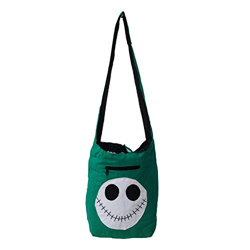 Fashion Wear Handloom coton Scary Face Patch Jhola College Sac à bandoulière