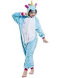 Samgu Infantil Pijamas Niños Kigurumi Cosplay Unisex Traje Animal Unicornio Onesie Ropa de Dormir