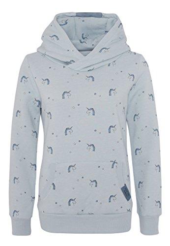 SUBLEVEL Kinder Hoodie mit Einhorn Print | Pflegeleichter Sweat Kapuzenpullover für Mädchen blue 134/140