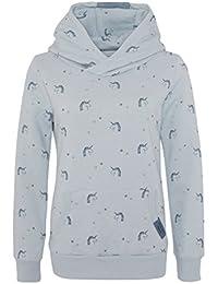 Sublevel Kinder Hoodie mit Einhorn Print | Pflegeleichter Sweat Kapuzenpullover für Mädchen