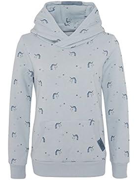 SUBLEVEL Kinder Hoodie mit Einhorn Print   Pflegeleichter Sweat Kapuzenpullover für Mädchen