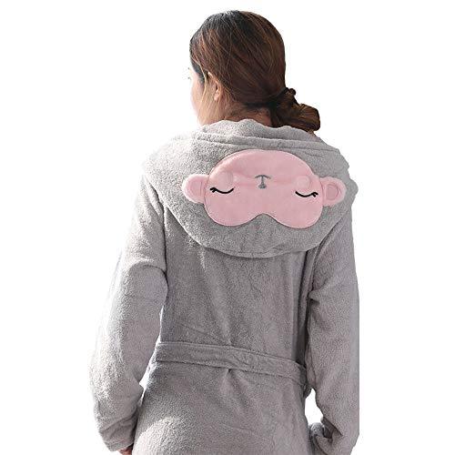 Bademantel, Damen-Cartoon mit Kapuze, Personalisierte Kurze Bademäntel aus Baumwolle, Absorbierendes Handtuch für zu Hause