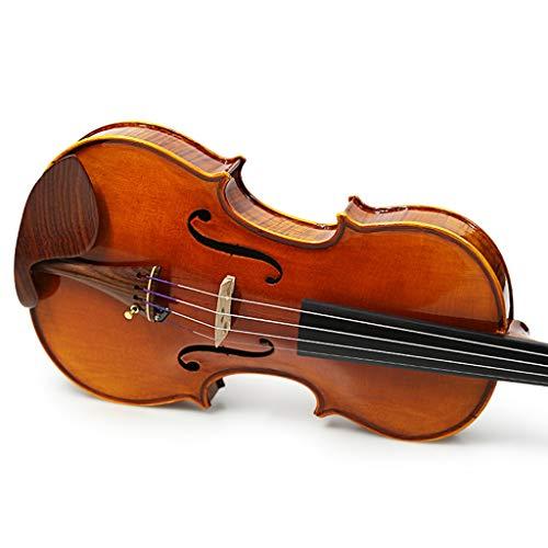 Violini Strumenti a Corda Solo Legno massello Importato a Mano Strumenti a Corde Tiger Maple Violins Super qualità del Suono (Color : 4/4)