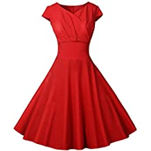 Beladla Mujer Vestido De Bola Mujeres Vintage Vestido 50S 60S Swing Pinup Retro Casual Ama De