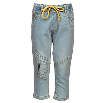 249fc2365 Beanie Bugs Rib Waist Denim With Knee Zip Patch For Infant Boys (2-3 ...