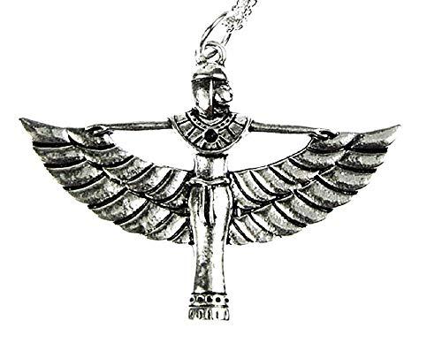 KIRALOVE Halskette Geschenkidee Symbol ägyptische Göttin Ägyptische Frau Isis Ägypten Mädchen Bijoux Geburtstag Valentinstag Schmuck Weihnachten Kostüm Schmuck Ihr Elegant (Mädchen Göttin Kostüm)