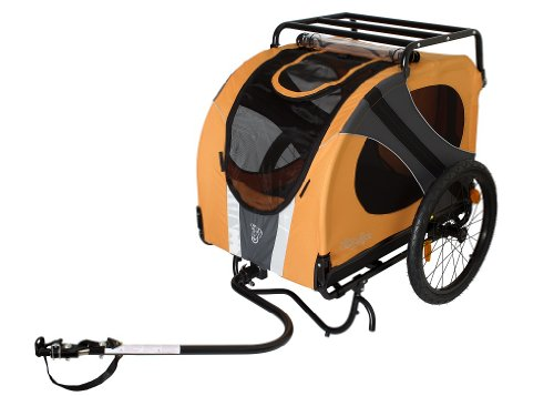 DoggyRide Novel10 (Leine, PET Matte, Dach Rack mit), Luxus Bike, Carier, Trailer für Tier/Hund. (Speichen Trailer Felge)