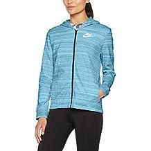 Nike W Nsw Av15 Jkt Knt Chaqueta, Mujer, Azul (Vivid Sky / White), M