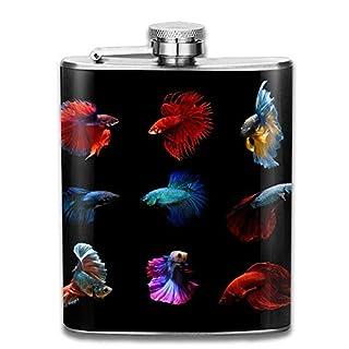 Gxdchfj Betta Fish Siamese Fighting Fish Betta Splendens Aquarium Moment Of Siamese Fighting Fish 304 Stainless Steel Flask 7oz