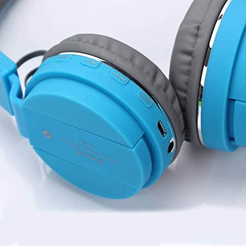 Morlivala SH12 Wireless Bluetooth Headphone for All Mobile with Mic with FM and SD Card Slot with Music and Calling Controls (Blue) Image 4