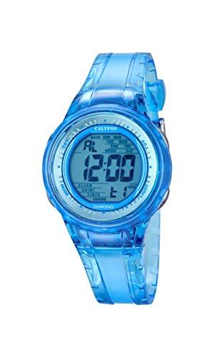 Calypso Mujer Reloj Digital con Pantalla Digital de Esfera Azul y Correa de plástico azul K5688/1