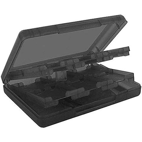 Sopear 28 en 1 Protector Plástico Caja Almacenamiento Cuadro Caso Titular de Memoria SD del Videojuego Video del Juego para Nintendo NDS NDSi NDSi LL 2DS 3DS 3DS XL 3DS Nuevas 3DS LL 3DS XL Tarjetas,Negro