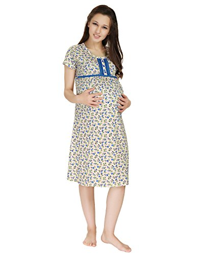 AV2 Women Cotton Maternity & Feeding Nighty