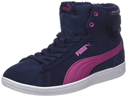 PUMA Damen Vikky MID WTR Hohe Sneaker, Blau (Peacoat-Magenta Haze 02), 39 EU -