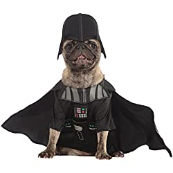 Star Wars - Disfraz Darth Vader para mascota, XL (Rubie's Spain 887852-XL)