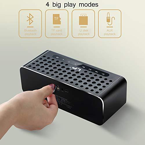 Spiegel Wecker Audio-Subwoofer Handy Wireless Mini Home Kreativ Computer Bluetooth LED Digitalanzeige TF-Karte U Disk Wiedergabe (Desktop-subwoofer)