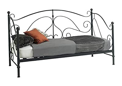 Brand New 3ft Single Milano Metal Daybed Black