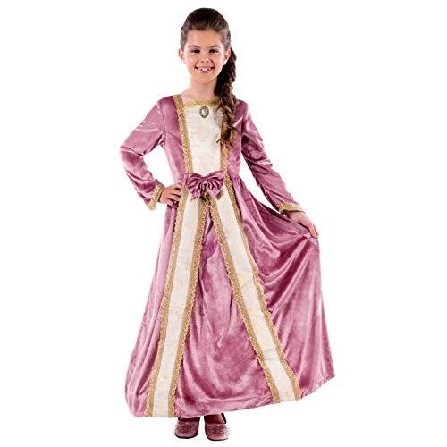 Kostüm Elizabeth Zubehör Queen - Fun Shack FNK4538M Kostüm, Girls, Princess Gown Pink, m