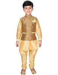 Desi Sarees Jungen Kurta Pyjama Weste 3 Stück Set EB 946