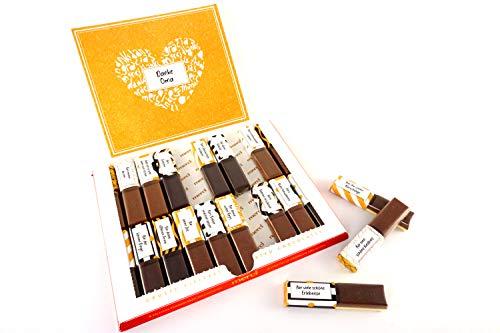 SURPRISA Aufkleber Set für Merci Schokolade - Dankeschön Oma/Opa - kreative Geschenke für Freundin, Freund, Mutter, Vater - kleine aber persönliche Geschenkideen - kleines Geschenk Partner