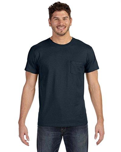 Hanes Herren Asymmetrischer T-Shirt schwarz - Vintage Black