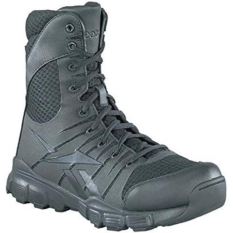 Reebok de hombre Dauntless 8-Inch sin costuras laterales con cremallera botas, hombre, Dauntless, negro,