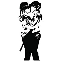 Kult Kanvas Banksy Police Woman Kissing Decal Wall Sticker Art Graffitti Street 60cm x 149cm [Kitchen & Home]