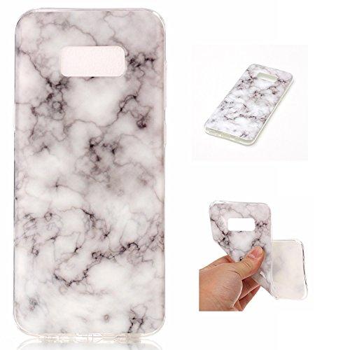 Per Marmo copertura di Samsung Galaxy S8 Inoltre Stone Texture modello anti-graffio antiurto ultra sottile molle della protezione posteriore Case Cover Shell ( Color : N ) J