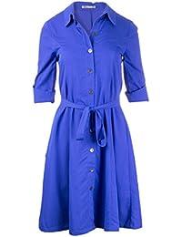 Lavand- Vestido camisero color azul Klein