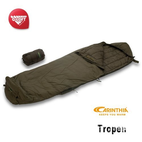 Carinthia Tropical Lightweight 3-Season Sleeping Bag for Hunting and Wilderness Army Sleeping Bag Olive (200cm)