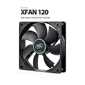 DeepCool XFAN 120 Boitier PC Ventilateur ventilateur, refroidisseur et radiateur - Ventilateurs, refoidisseurs et radiateurs (Boitier PC, Ventilateur, 12 cm, 26 dB, Noir, 0,84 W)