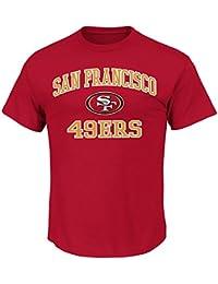 San Francisco 49ers Majestic NFL Heart & Soul III Men's T-Shirt - Red
