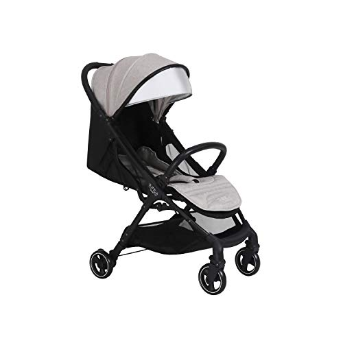 Tutti Bambini Momi Stroller Pushchair Suitable from Birth to 22kg Lightweight Compact One Hand Fold System in Black/Charcoal Best Price and Cheapest