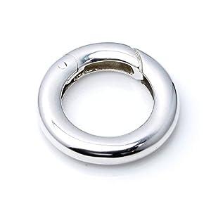 .925 Sterling Silber Rund Perlen Halskette Verstärkung, Verkürzung Ringfeder-Verschluss Verbinder 15 mm.